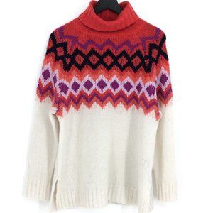 NWOT AERIE Fair Isle Oversized Turtleneck Sweater